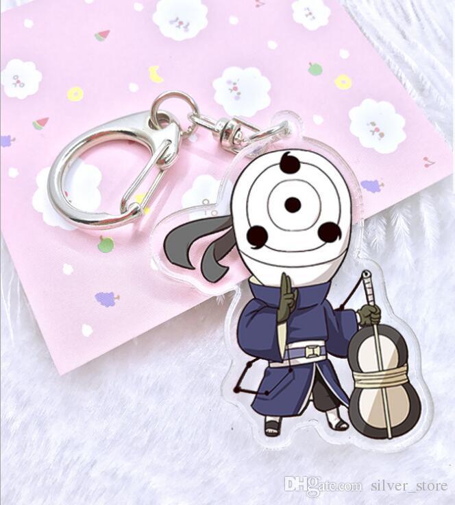 Bom A ++ Anime Acrílico Duplo Pingente Chaveiro KR188 Chaveiros ordem da mistura de 20 peças muito