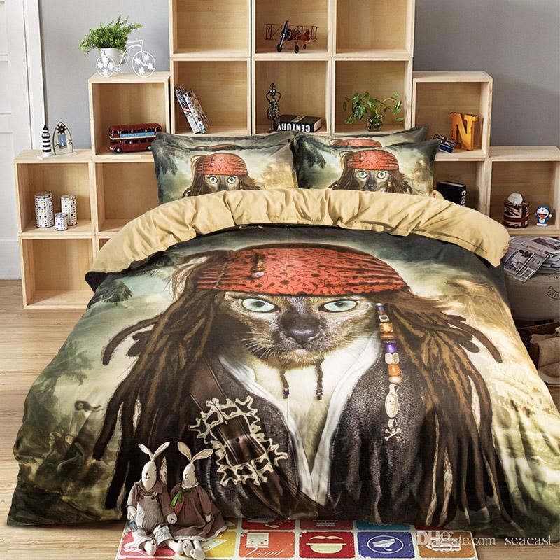 3d Comforters Part - 15: 3d Bedding Set Bedsheet Reactive Printing Animal Pattern Home Textiles  Duvet Covers Bed Linen Pillow Cases Wholesale 100 Cotton Comforter Sets  Bedroom ...