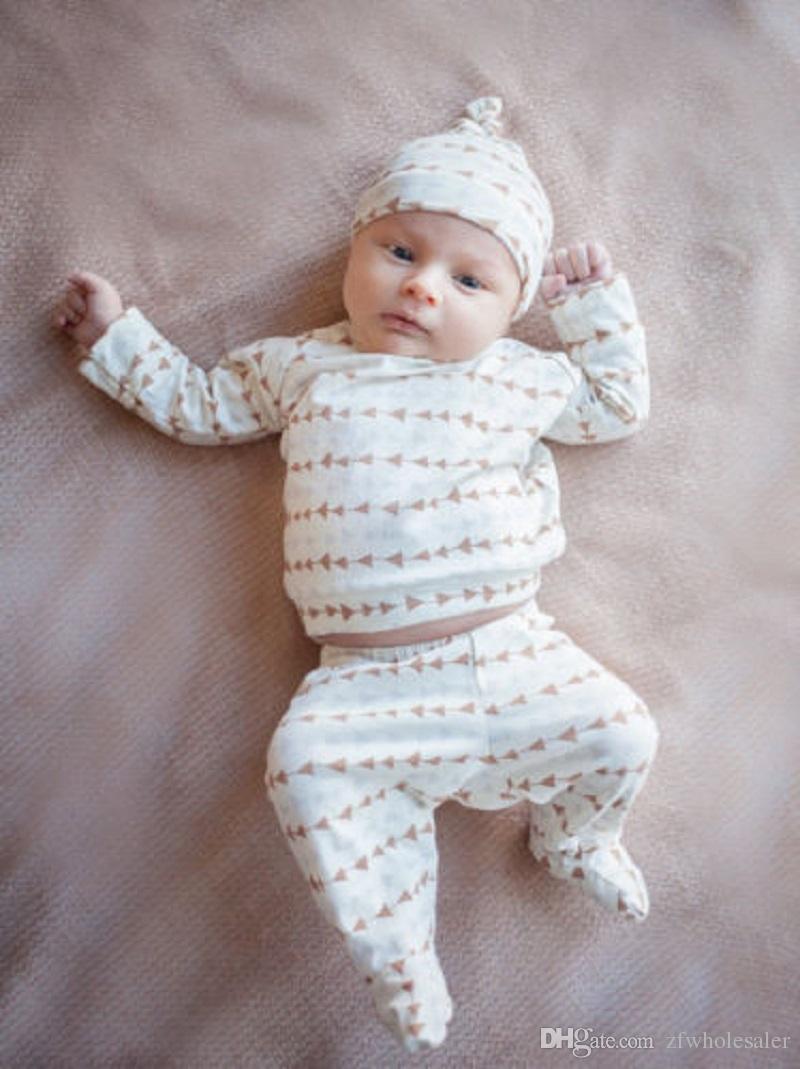 Célèbre Marque Bébé Filles Blanc Barboteuse Boutique Enfants Vêtements Sweat À Manches Longues + legging Pantalon Chaud + Chapeau Infant Jumpsuit Toddlers Body