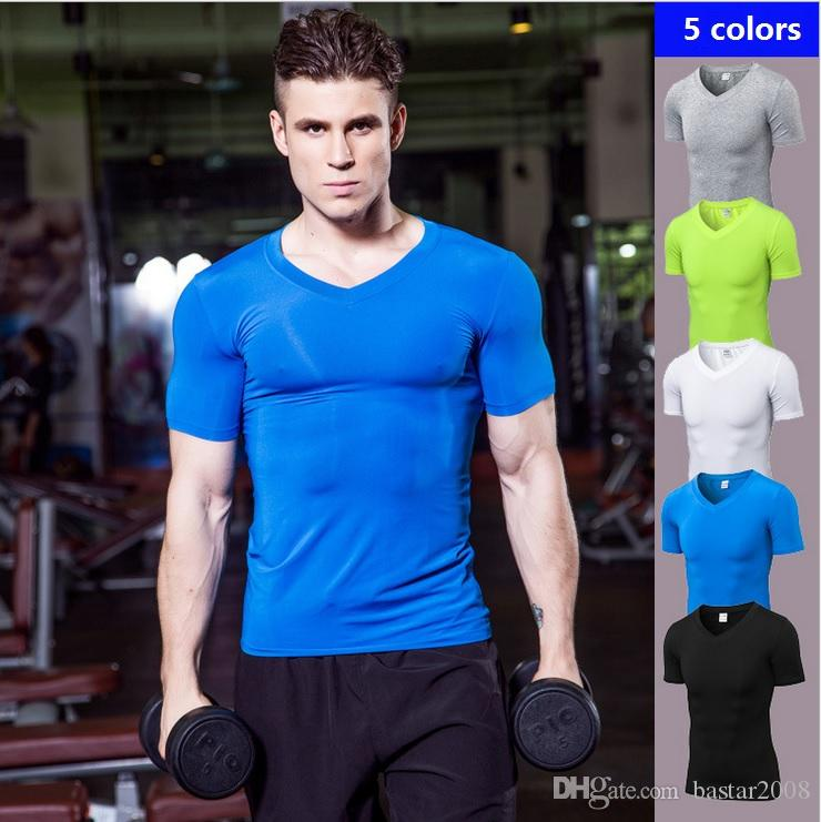 80798140bf108 Five Colors qucik dry men gym sports exercise fitness wear T shirt men gym  tank tight yoga clothing, free shipping