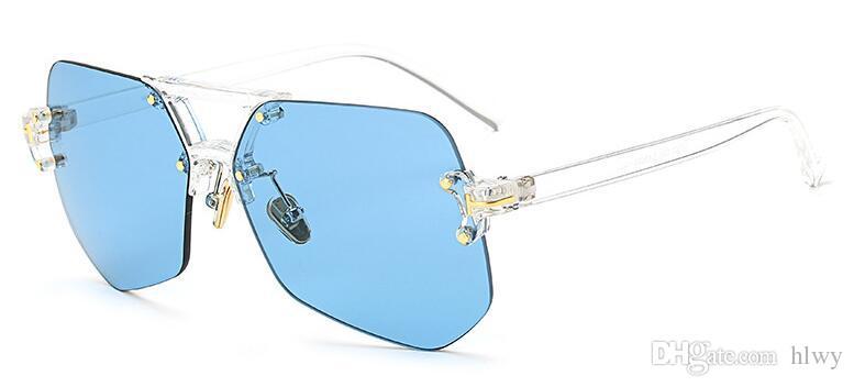 97301 2017 nouvelles lunettes de soleil de mode transparentes Ne pas jauger côté lunettes de soleil de couleur chaude printemps source