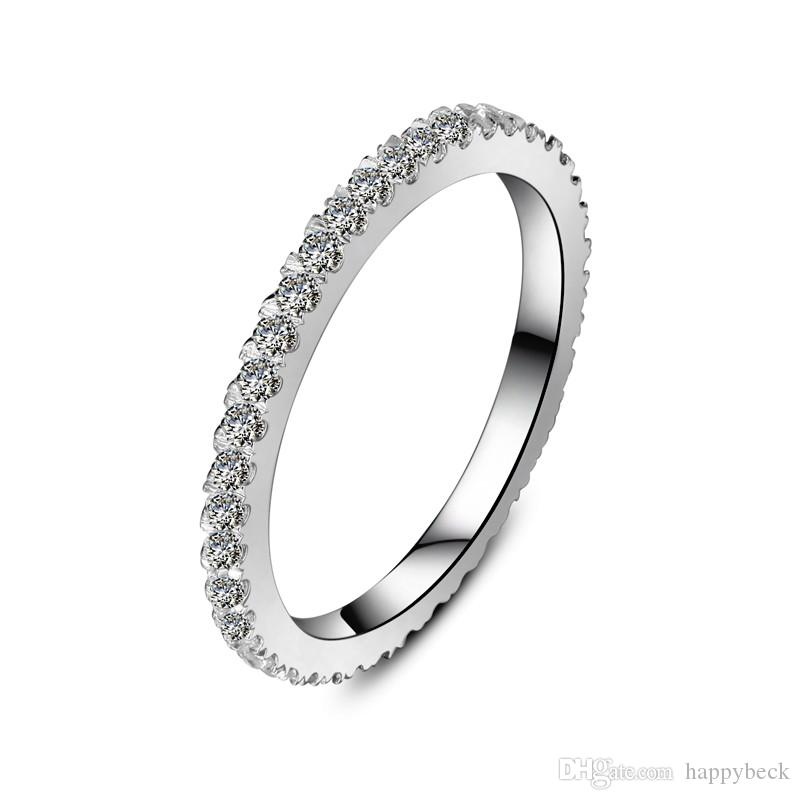 78a533946c 2019 Fancy 0.23Ct Round Cut Synthetic Diamond Wedding Band Ring Solid 925  Sterling Silver Ring Brilliant Forever Jewelry From Happybeck, $60.31 |  DHgate.Com