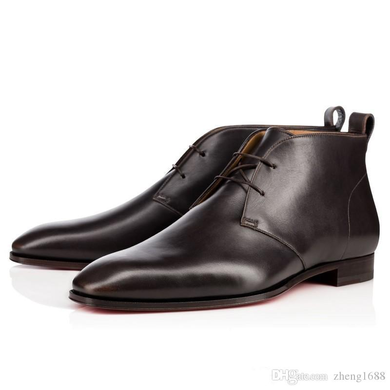 62418144cbae Original BoxFrance Fashion Luxury Red Bottom Milan Boots Dress Shoes  Wedding Party Shoes Men
