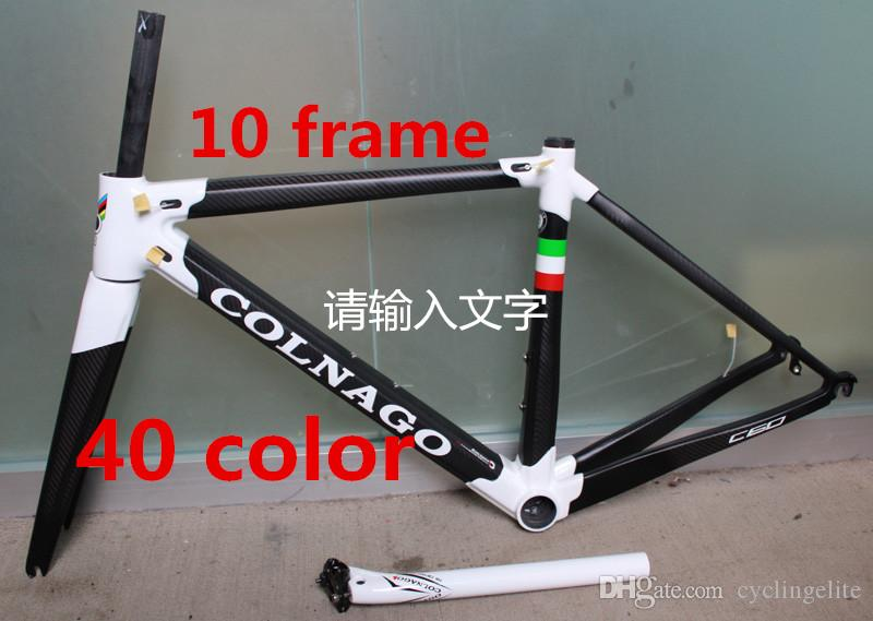 White Black Colnago C60 Road Bike Carbon Frame Full Carbon Fiber