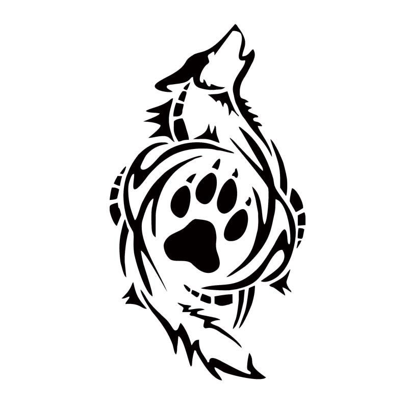 2019 Tribal Wolf Paw Print Car Styling Decal Vinyl