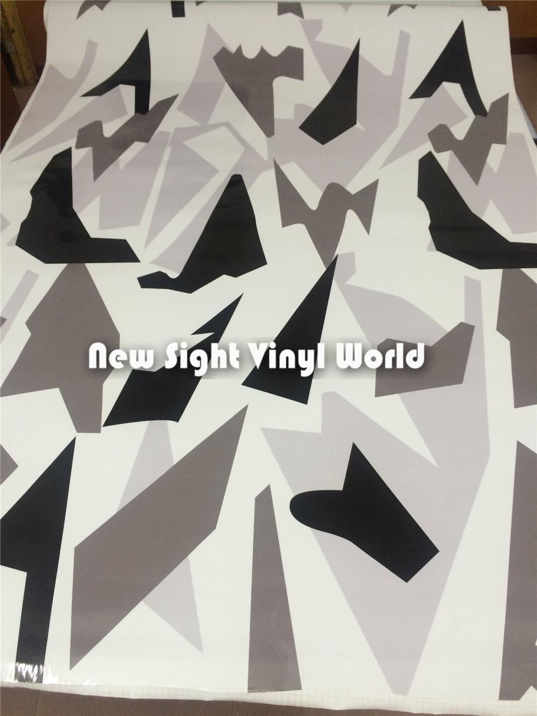 Arctic Dazzle Camo Vinyl Wrap Arctic Snow Camouflage Vinyl Film Air Bubble Free For Vehicle Wraps