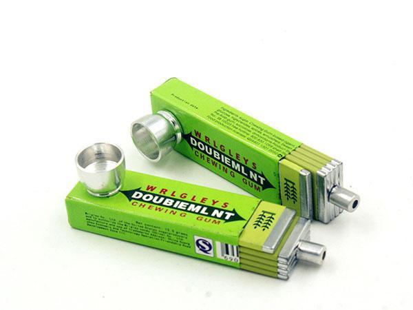 Pipes Rauchrohr Metallrohr 83mm Kaugummi-Art-bewegliche Qualitäts-Wasserpfeifen Heady Kostenloser Versand
