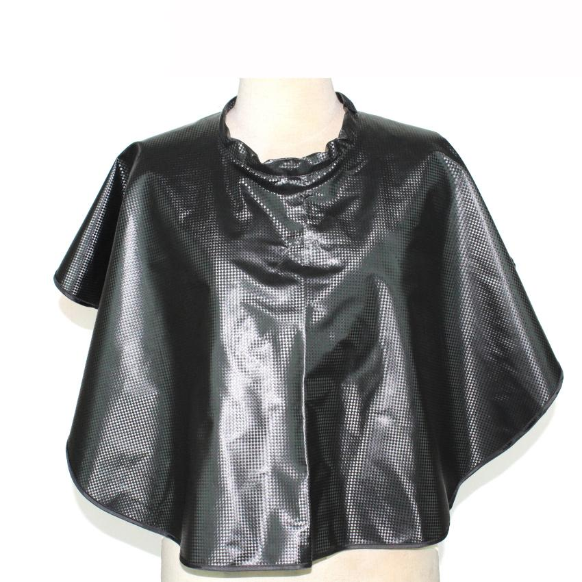 Newest Waterproof & Anti-Chemical Hair Shampoo Shawl Professional Hair Coloring Perming Wrap Gown Salon Stylist Styling Cape In Black Color