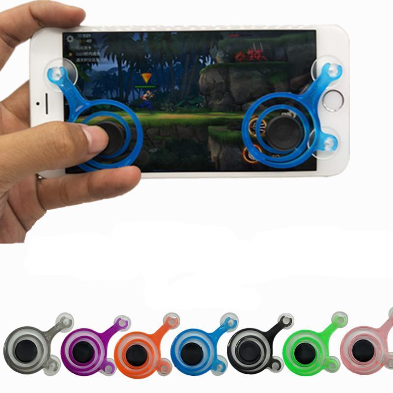 Juego Mobile Joystick Phone Mini Game Rocker Touch Screen Joypad Tablet Sucker inalámbrico Game Controller para iPad iPhone teléfono celular 2pcs / Set