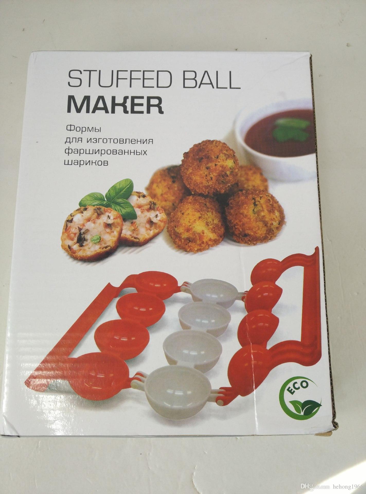 Newbie Polpette di carne farcite Macchine la lavorazione della palla Macchine da cucina Gadget Materiale ABS Vendita calda di alta qualità 5 5tf R