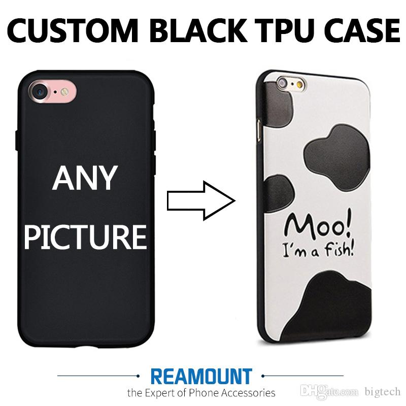 the best attitude 7d958 4b8e4 Customized Custom Made OEM Photo Picture TPU Black Phone Case Cover for  iphone 6s 6s plus Phone Case Cover Can Make Any Design