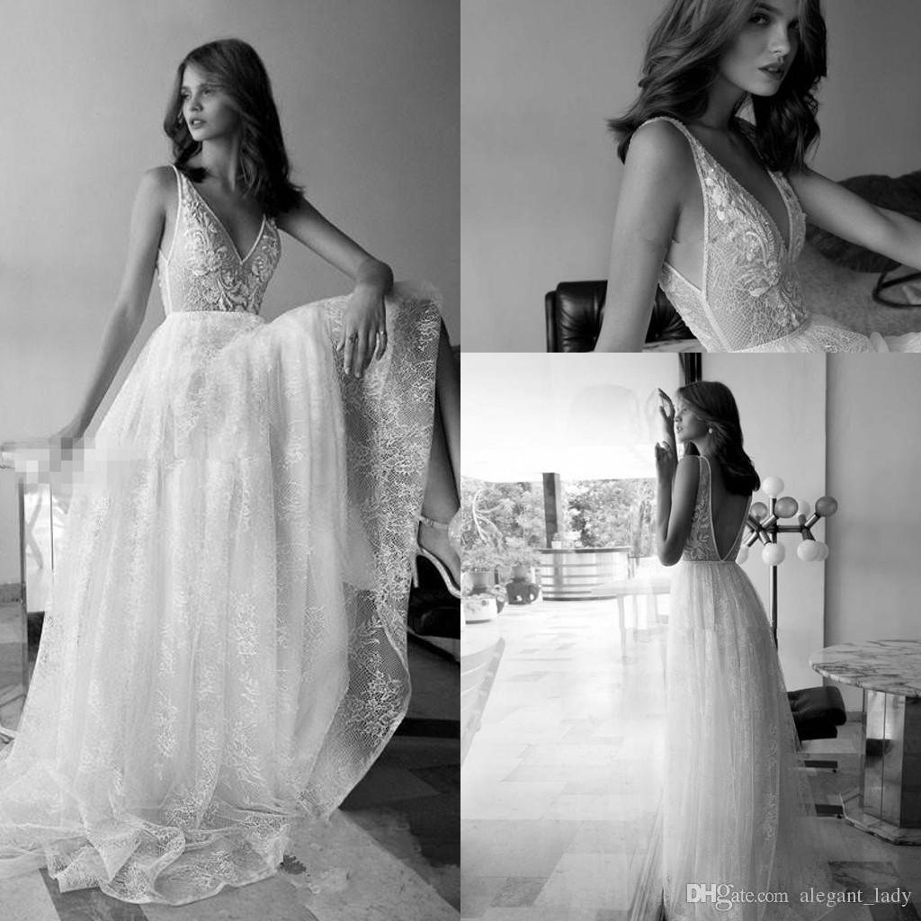 Fairy Boho Wedding Dresses Deep V Neck Lace Vestido De Noiva Cheap But High Quality Bridal Gown A Line Bohemia Beach Holiday Dress