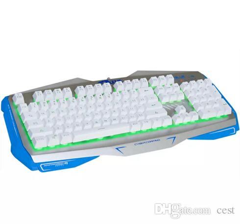 E-3lue jogo de computador E-3LUE EKM745 k745 Profissional USB Com Fio 104 Teclas Gaming Keyboard fresco transporte rápido