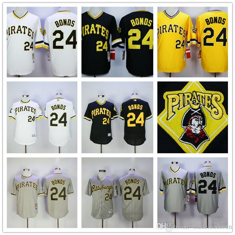 9c373682a ... 2017 24 Barry Bonds Pittsburgh Pirates Throwback Black Yellow White  Pull Down Baseball Jersey Top Quality Mens Barry Bonds Vintage ...