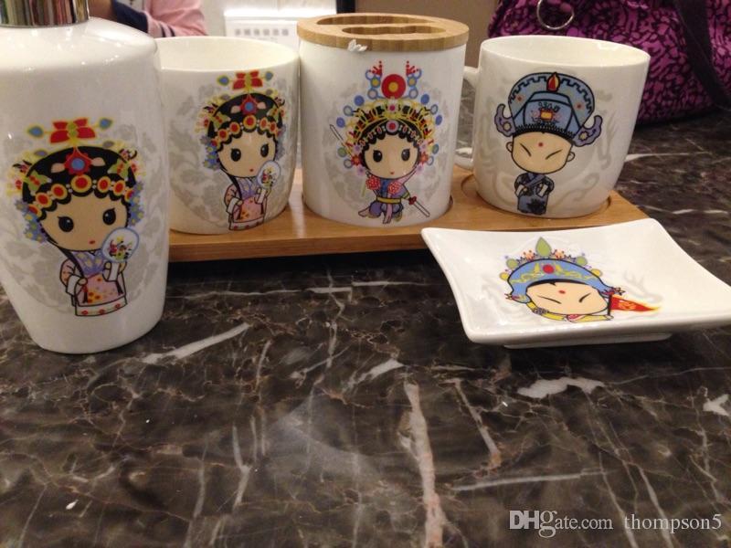 Toilette Da Bagno : Acquista bagno ceramica articoli da toilette set da cinque pezzi
