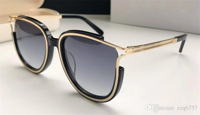 New fashion designer sunglasses cat eye hollow frame simple bestselling style top quality uv 400 protection eyewear with original box 688