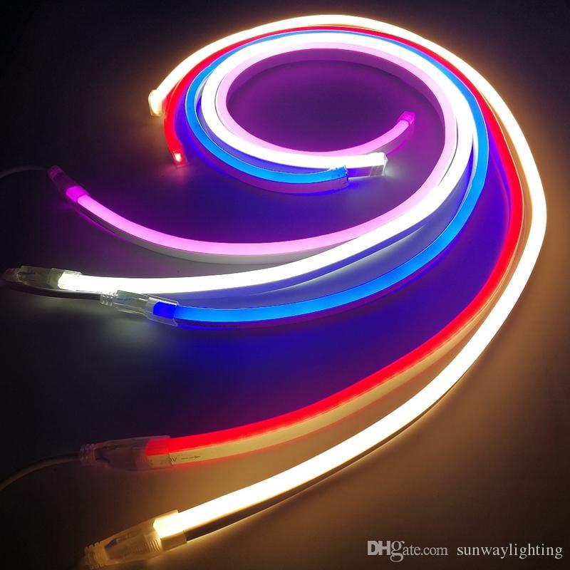 Rgb led neon tube flex light waterproof outdoor flexible neon rgb led neon tube flex light waterproof outdoor flexible neon lighting red white green blue led neon rope jacket ac 110v bright led strips smd 5050 led workwithnaturefo