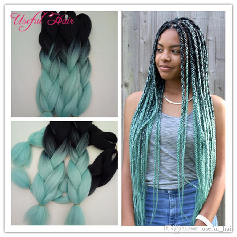 Braided Hair Bundles 24inch 2x Jumbo BRAIDS SYNTHETIC Braiding Hair ...