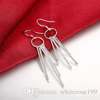 Groothandel - laagste prijs kerstcadeau 925 Sterling zilveren mode oorbellen E026