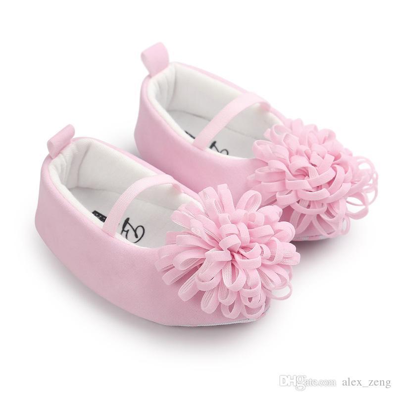 14 أنماط الطفل الأولى ووكر أحذية 2017 ربيع الخريف طفل الأزياء روز زهرة القوس الأميرة لينة وحيد الخف حذاء مسطح المدببة رسوم ems