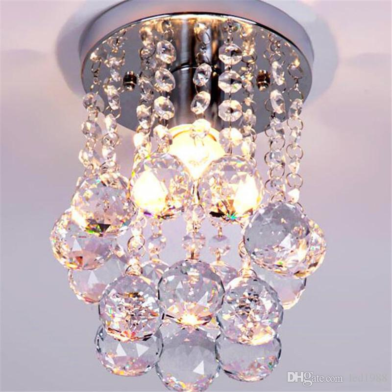 15 20 25cm Crystal Chandelier Light Mini Ceiling Lamp Fixture Small Clear Re For Aisle Stair Hallway Corridor Oil Rubbed Bronze