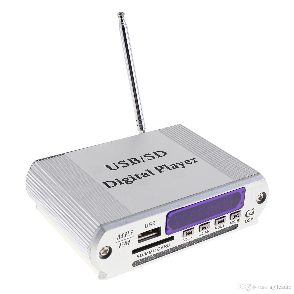 Мини ослепить цвет светодиодный дисплей уровня мощности автомобиля усилитель цифровой аудио музыкальный плеер с пультом дистанционного управления поддержка FM / SD / USB / DVD CEC_811