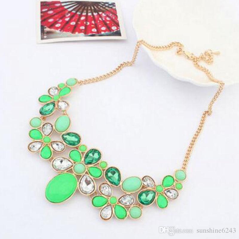 New Pendant Necklaces Fashion Shourouk Chain Choker Vintage Rhinestone Statement Necklaces Pendants Women Jewelry