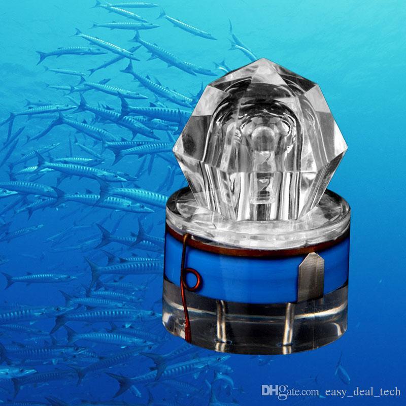 2017 New LED Deep Drop Underwater Diamond Fishing Flashing Light Bait Lure Squid Strobe Ultra-Transparent Acrylic Shell ZJ0216