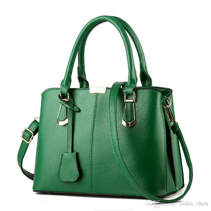 2017 Spring And Summer High Quality Sweet Fashion Leather Bags Candy Color  Women Shoulder Handbags Lady Party Hand Bags Designer Handbags On Sale  Black ... 57361a5066765
