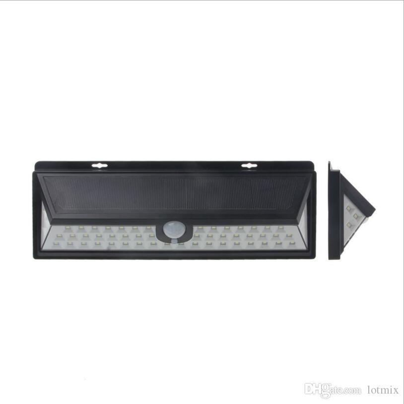 Mising Impermeável 54 LED de Luz Solar 2835 SMD Branco Solar Power Luz de Jardim Ao Ar Livre PIR Sensor de Movimento Da Via Lâmpada de Parede 3.7 V