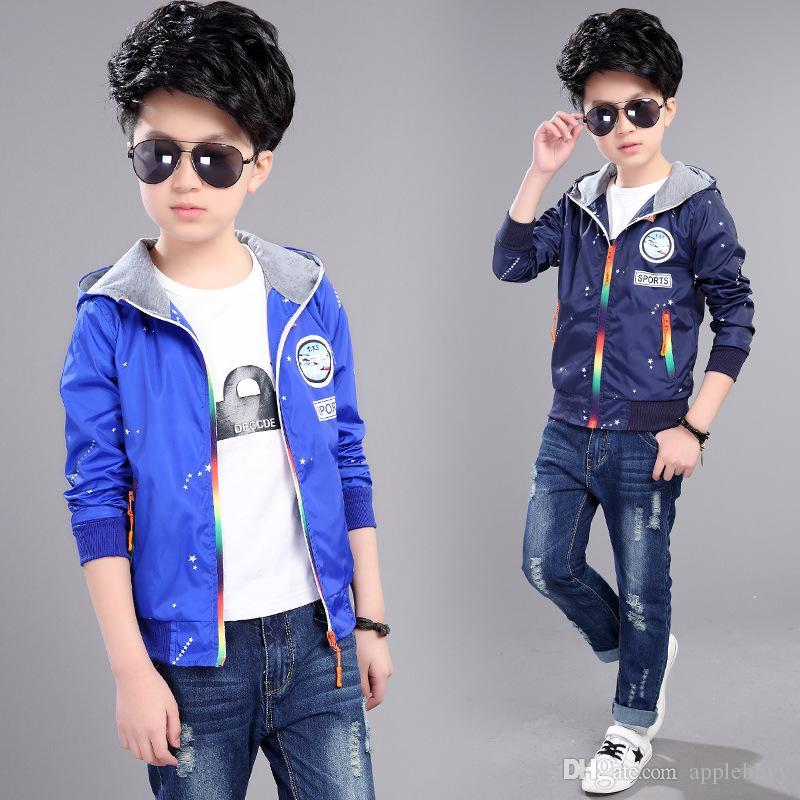 948afbd90 The New Boy Korean Fashion Leisure Sports Jacket Rainbow Children ...