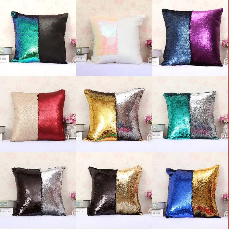 DIY Double Sequin Pillow Case Cover Glamour Square Throw Pillow Gorgeous Diy Decorative Pillow Covers