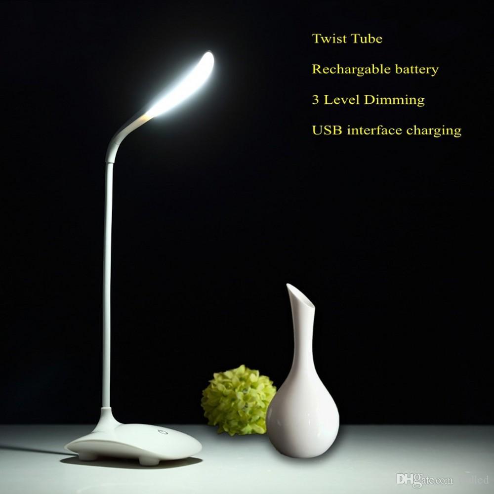 2018 Fashion Modern Stylish Led Table Lamp Usb Port Reading Flexible Gooseneck Rechargeable Desk 3 Brightness Level From Tbdled