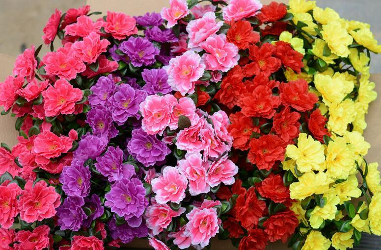 Rhododendron azalea simulation flower outdoor bed flower trough rhododendron azalea simulation flower outdoor bed flower trough decoration silk flower factory wholesale simulation rhododendron azalea simulation flower mightylinksfo