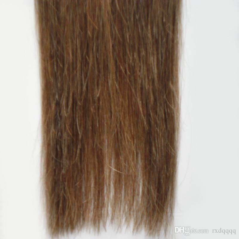 Ombre brezilyalı saç 100g 40 adet Düz # 1B / 6 bant İnsan saç uzantıları Ombre Bakire Remy Cilt Atkı insan saçı