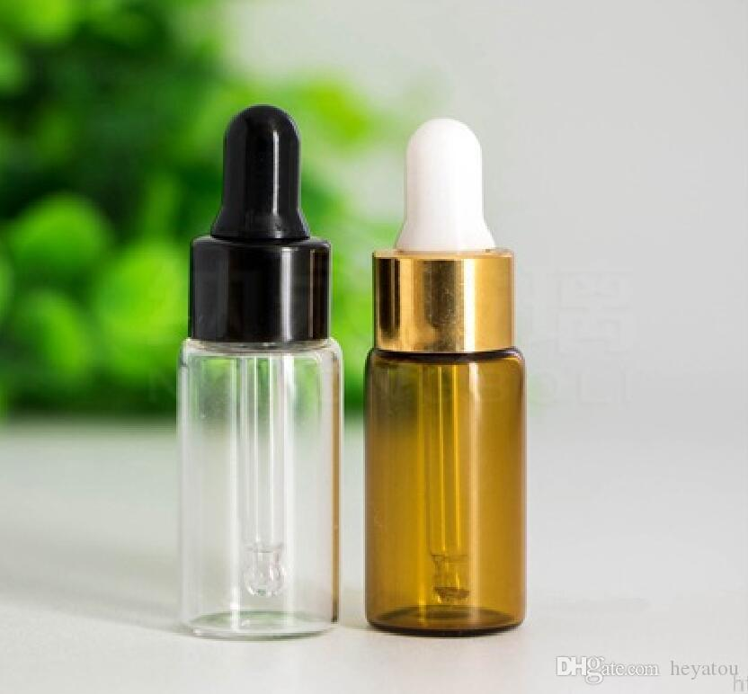 50/ 5ML Clear Glass Dropper Bottle, 5 ML serum Vial, 5ml Cosmetic Packaging, Sample Display Container