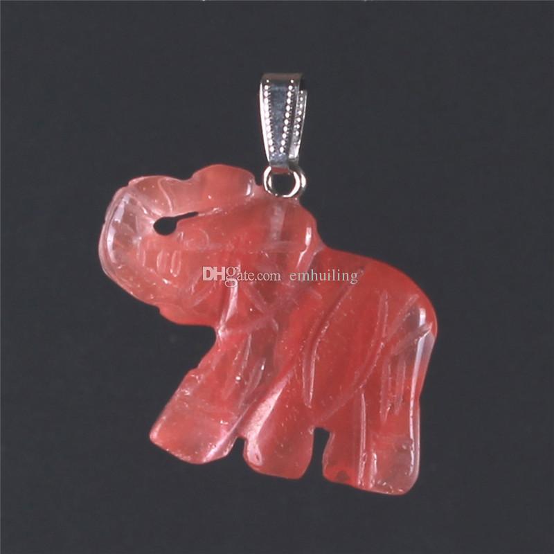 Opal opalite tigre ojo elefante piedra natural tallado 32 * 25 mm figurilla chakra bead colgante curación cristal reiki feng shui trae buena suerte