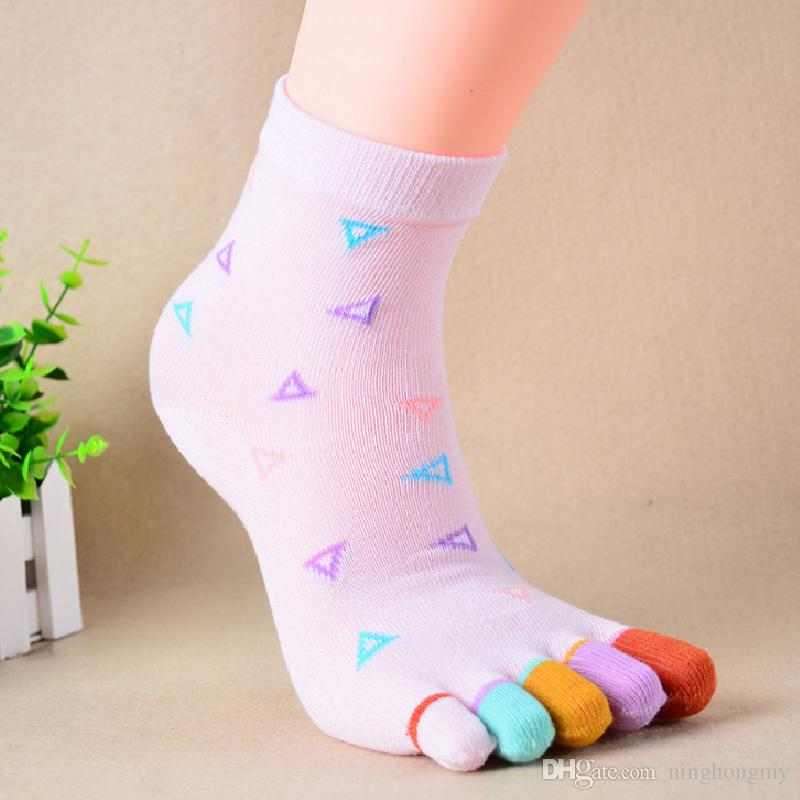 1ff447d0a0 2019 With Heel Women Toe Colour Breathable Short Socks Ankle High Assorted  Lady Five Toe Socks 5 Fingers Socks One Pair Feet Care From Ninghongmy, ...