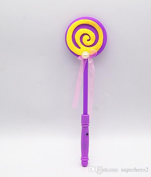 Blinkende Lollipop Zauberstab LED Knicklicht Lustige Halloween Weihnachten Hen Club Party Zubehör Kinder Mädchen Kostüm Requisiten Beutelfüller