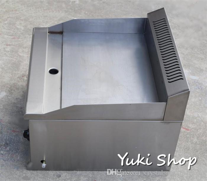 popular commercial gas thick griddle lpg heating griddle pan high quality stainless steel fried rice griddle