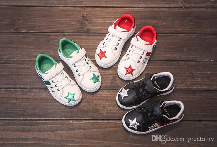 wholesale new children casual shoes star style kids PU shoes fashion shoes for baby boys and girls cheap price with good quality