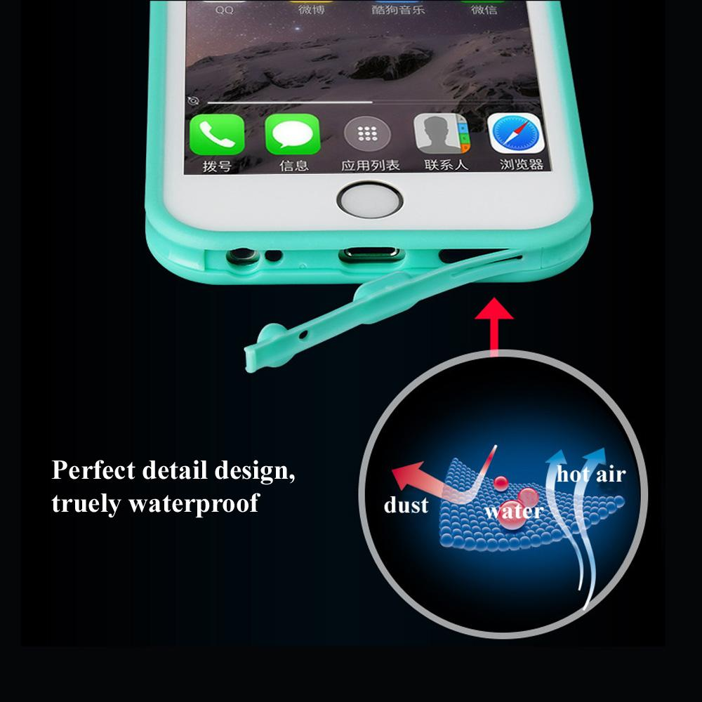 Super Waterproof Case For iPhone X 8 6 6S 7 Plus 5S SE Smart Touch Screen Soft TPU Underwater Dust proof Shockproof Cover