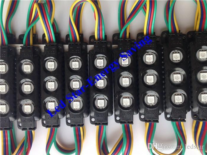 블랙 LED RGB 모듈 10ft =  사출 ABS 플라스틱 5050 SMD LED 모듈 3LEDS / 1.2W LED 백라이트 문자열