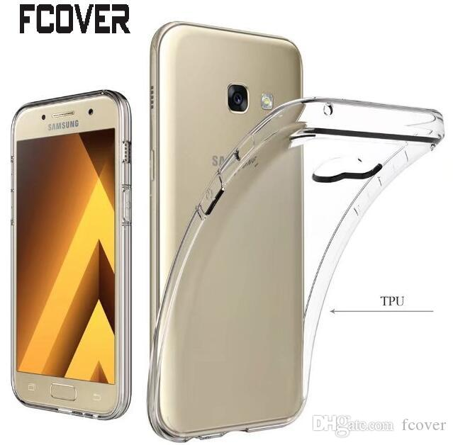 best service c8b97 2c73e Transparent Crystal Clear Soft Cover For Samsung Galaxy A3 2017/ A5 2017/A7  2017 Case TPU Gel Skin Back Covers Galaxy Xcover 4 Case