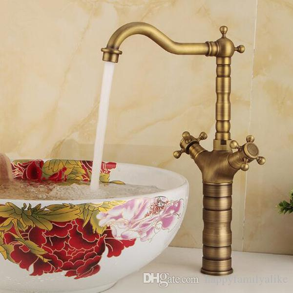 2018 Dhl Shipping Bathroom Mixing Decks Faucet 360 Degree Brass ...