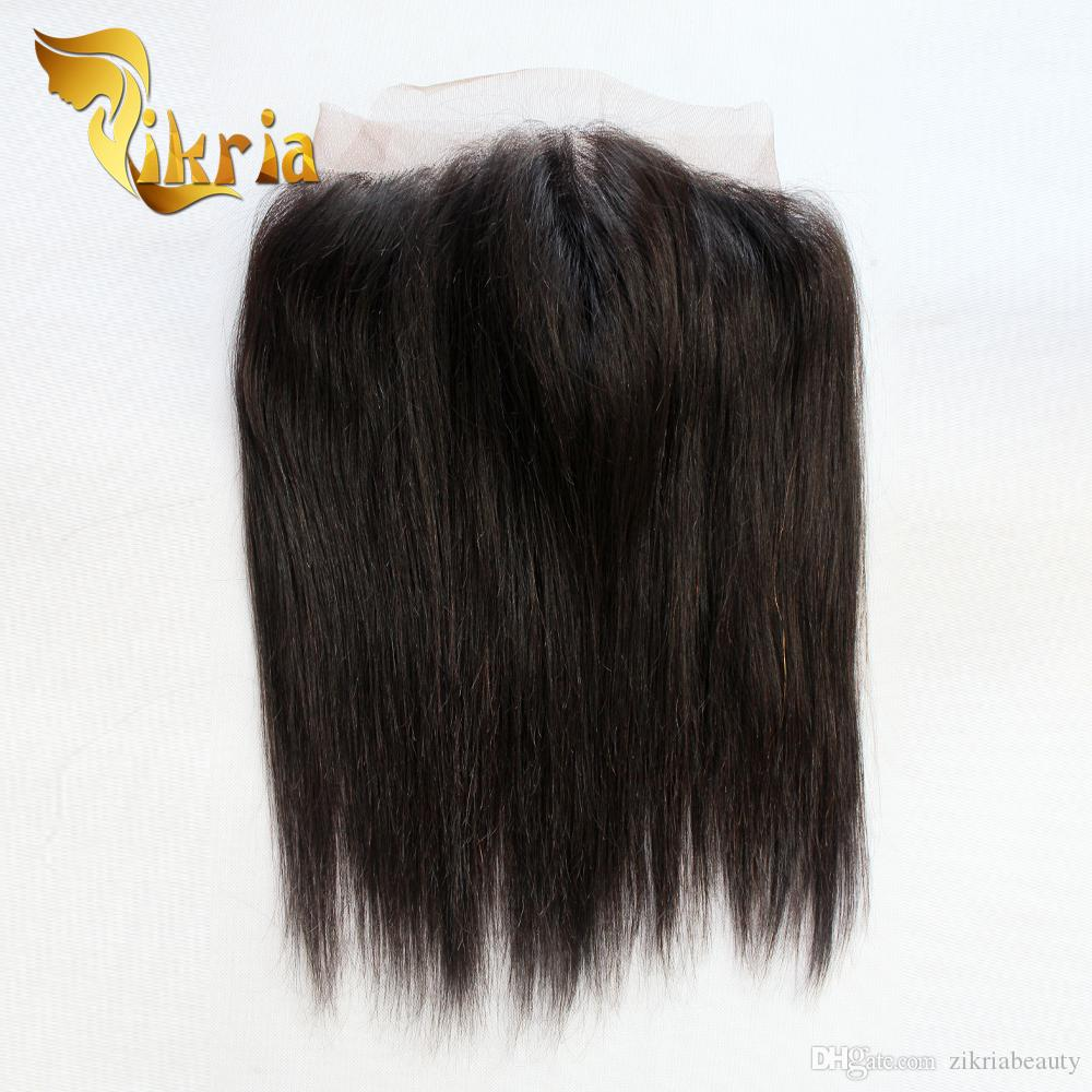 Cheap Indian Peruvian Brazilian Malaysian Hair 360 Lace Front Closure Straight Lace Closure Bleached Knots Human Hair Lace Front For Sale