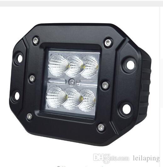 Wholesale 4inch 18w Work Light High Intensity Creeled Chip Flush