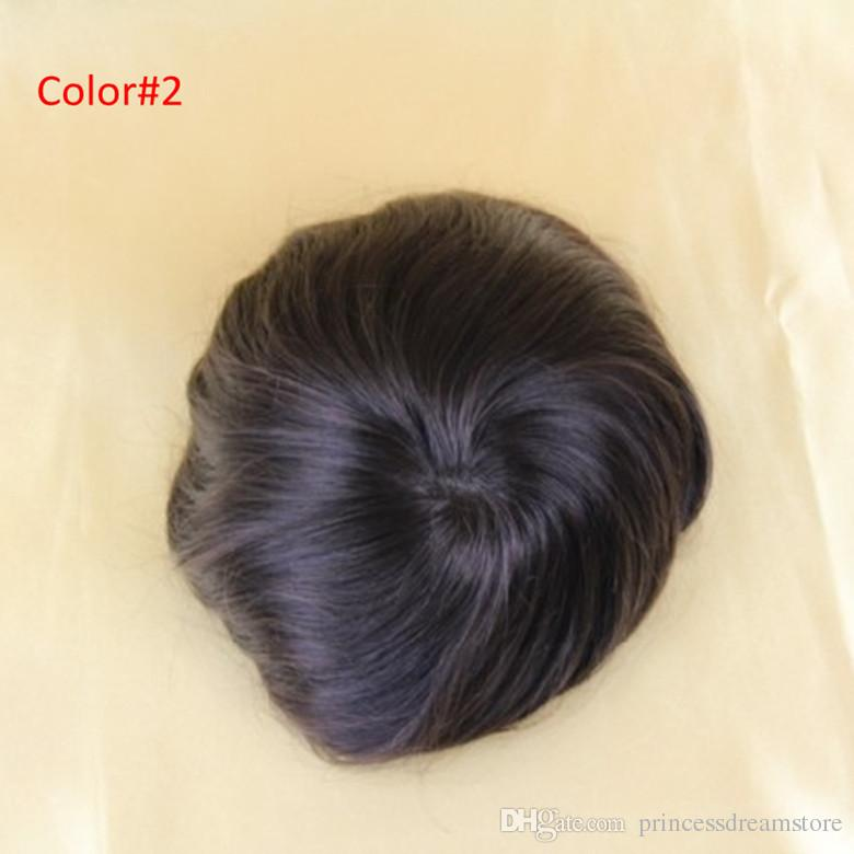 8x10inch mono lace Men's toupee hair replacement Indian hair toupee for men #1B Color no shedding no tangle For men wig
