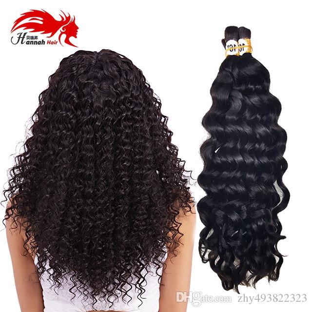 Virgin Remy Unprocessed Human Hair Bulk Deep Curly Wave Brazilian