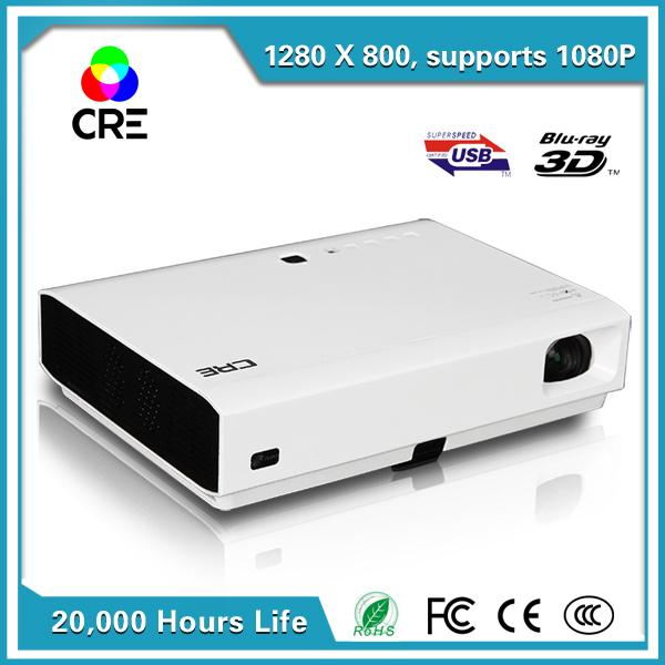 Wholesale-CRE X3001 Portable smart short throw 3D 1280*800 DLP projector for home theater/education/business